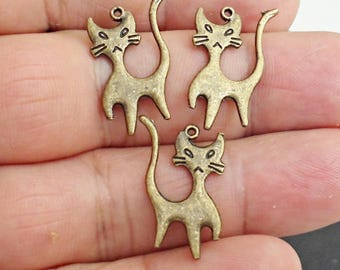 Set of 4CAT charms pendant  Jewelry Findings /gg2