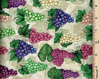 Perfectly vintage grapes allover, Quilting Treasures