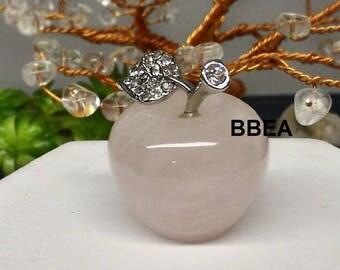 Apple decor wellness rose quartz, stone of love