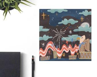 Main Street Electrical Parade Disney Art Print, Disney Christmas Gift, Retro Disney Parks, Co-Worker Christmas Gift Idea, Disney Lover Gift,