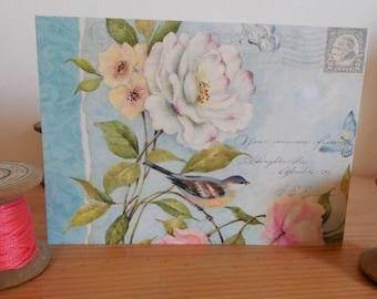 Carte postale shabby