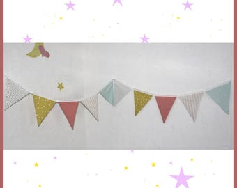 Garland of 10 flags, baby and child's room decoration