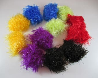 12 soft elastic scrunchie, hair scrunchie, shiny and very colourful.