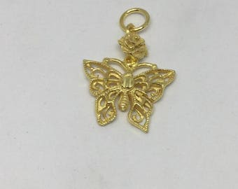 Vermeil sterling silver charm