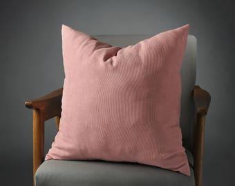 Blush Pillow, Blush Cushion, Blush Pillow Cover, christmas gift, Rose Quartz Pillow, Light Pink Pillow, Blush Velvet Pillow