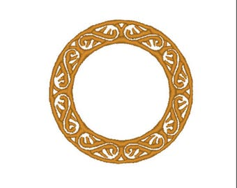 CIRCLE FRAME EMBROIDERY Design