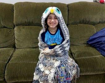 Hooded Owl Blanket Pattern Download