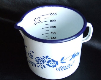 Enamel 120 ml measuring jug
