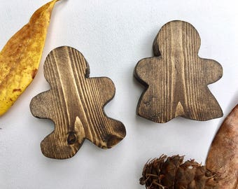 Wooden Gingerbread People