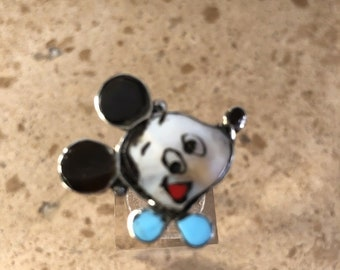 Vintage Zuni Mickey Mouse Ring Size 3.75 Signed