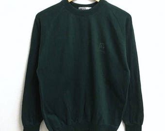 RARE!!! Be Balcan Milano Small Logo Embroidery Crew Neck Dark Green Colour Sweatshirts Hip Hop Swag M Size