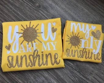 Mommy and me shirts girl, mommy and me shirts, mommy and daughter shirts, mommy and daughter matching shirts, you are my sunshine, my only s