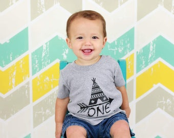 Teepee birthday shirt, one shirt, one shirt boy, first birthday boy shirt, 1st birthday boy shirt, boy first birthday shirt, boy 1st birthda