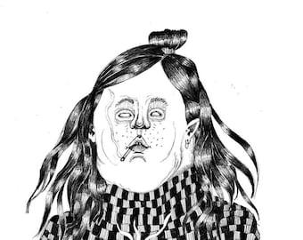 An unholy morning - A3 print