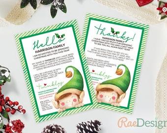 Elf Arrival and Goodbye Letter - Christmas Letter, Christmas Eve Box, Elf on a Shelf Letter, Letter from Elf, Elf Letter, Instant Download