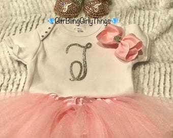 CUSTOM Baby Outfit (Onesie, Tutu, Bow, Shoes)