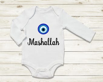 Mashallah | Baby vest | Islam | Newborn gifts | baby shower gift | new mum | Muslim Baby | new born body suit