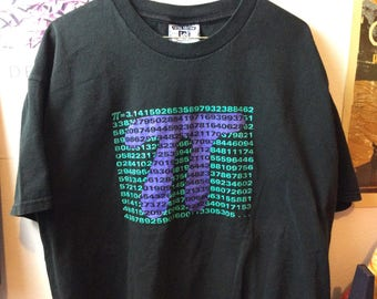 Vintage 3.14 shirt pie 90s size xl math
