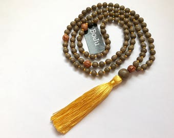 Mala beads - Mala necklace - Mens Mala Beads - 108 Mala - Yoga beads - meditation beads - wooden mala - hand knotted mala - Prayer  Beads