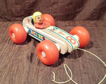 Vintage Fisher Price Bouncy Racer, free shipping