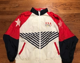 Vintage Team USA Olympics Windbreaker Jacket 90s Size Large