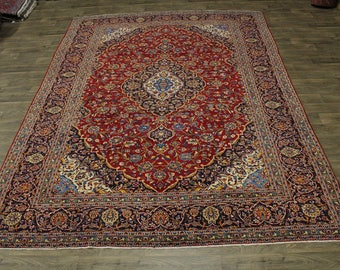 Gorgeous S Antique Handmade Red Kashan Persian Rug Oriental Area Carpet 10X13