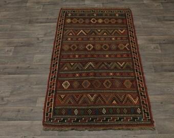 Authentic Hand Woven Tribal Design Sumak Persian Rug Oriental Area Carpet 4X7