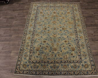 Nice Antique Handmade Allover Kashan Persian Area Rug Oriental Carpet Sale 7X11