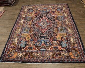 Overwhelming Historical Design Kashmar Persian Rug Oriental Area Carpet 10X13