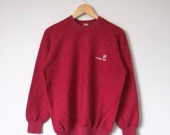 Vintage Hang Ten Jumper Pullover Sweatshirt Hang Ten Shirt Jacket Sweater Red Colour Medium Size