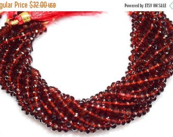 50% OFF AAA Quality Mozambique Garnet Rondelle Beads 8 Inch Strand ,Mozambique Garnet Faceted Rondelle Beads , 5.25 mm - MC236