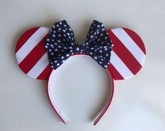 American Flag Minnie Mouse Ears ***READY TO SHIP***