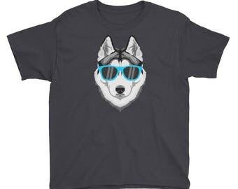 Husky Dog T Shirt For Kids, Husky Shirt, Siberian Husky, Kids Tshirt, Kids Tops, Husky Tshirt, Dog T Shirt,  Siberian Husky Tees, Dog Gift