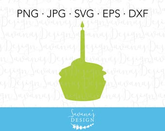 Cupcake SVG, Cupcake Clipart, Cupcake Clip Art, Birthday Cake SVG, Birthday Cupcake SVG, Cake Svg, Candle Svg, Cupcake Candle Cut File