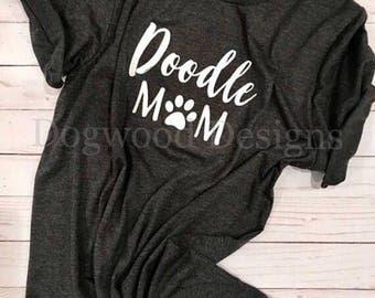 Doodle Mom T-shirt, Goldendoodle Labradoodle Dog Mom Shirt, Cute Dog Lover Gift