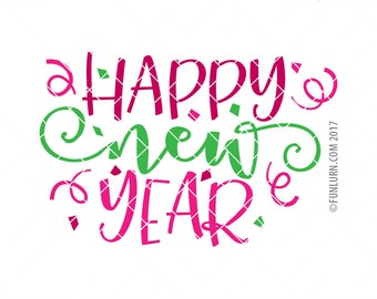 Happy New Year SVG, Bling in the new year SVG, New year svg, Party, bling, New Year svg, Cheers, Celebration,  svg, png dxf eps