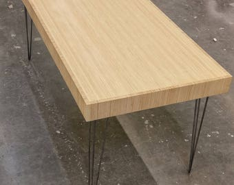 Refurbished bamboo plywood table | one of a kind refurbished table