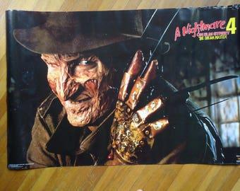 Nightmare on Elm Street Poster - Nightmare on Elm Street 4 poster, Freddy Krueger Poster, Horror movie, Freddy Krueger, Movie Poster, Freddy