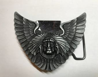 Indian Chief With Wings and LIGHTER Belt Buckle