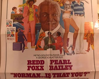 Norman Is That You? Redd Foxx Pearl Bailey Original Movie Poster One-Sheet 1976