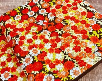 "K72205 Beautiful Black ""Sho-Chiku-Bai""Pattern Obi Kimono Belt Fukuroobi"