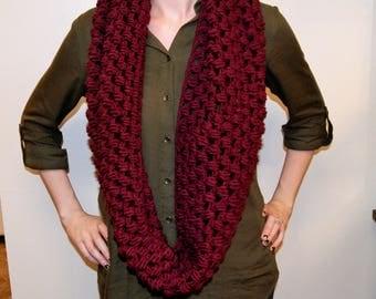 Crochet Jumbo puff stitch cowl/snood infinity scarf