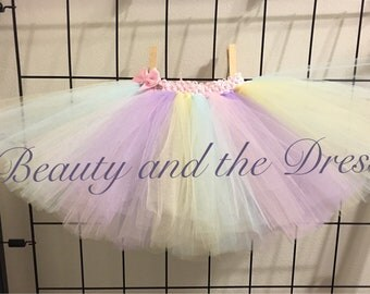 Easter tutu, holiday tutu, pastel tutu, pink tutu, teal tutu, yellow tutu, purple tutu, rainbow tutu, multicolor tutu,