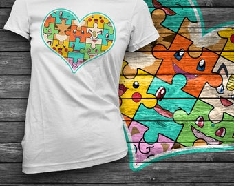 Poke-Puzzle T-Shirt / Charmander / Pikachu / Eevee