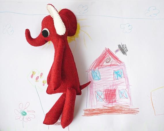 Elephant, Elephant Decor, Handmade Toy, Elephant Gift, Baby Gift, Plush Elephant, Stuffed Elephant, Baby Toy, Waldorf Toys, Baby Elephant