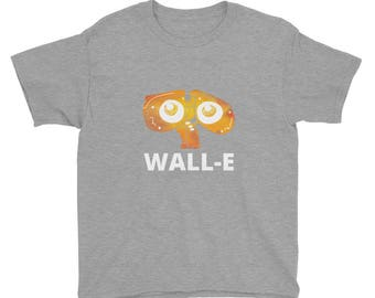 Youth/Kids size WALL-E inspired watercolor print Short Sleeve T-Shirt