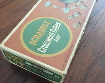 Vintage SCRABBLE Crossword Cubes Game