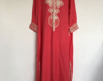 Beautiful Moroccan Handmade bohemian caftan midi Dress