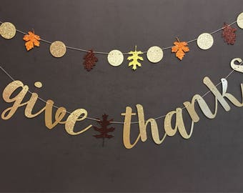 give thanks banner banners glitter banners