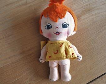 Vintage Flintstone's Peebles Small Stuffed Fabric Doll – Hanna Barbera